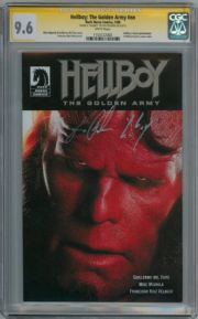 Hellboy The Golden Army #1 CGC 9.6 Signature Series Signed Ron Perlman Movie Dark Horse
